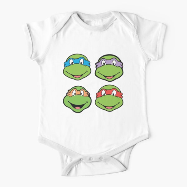 Teenage Mutant Ninja Turtles Faces Short Sleeve Baby One-Piece
