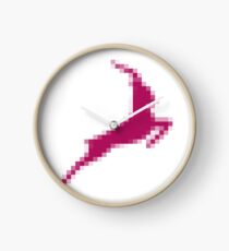 magenta, illustration, art, vector, symbol, design, horizontal, pink color, in a row, separation, colors Clock