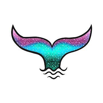 Copia de sirena colorida, cola de sirena de boom-art