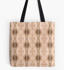 brown, beige, symmetry, abstract, design, pattern, art, decoration, wicker, vertical, textured, in a row, seamless pattern, textile, backgrounds Tote Bag