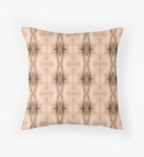 brown, beige, symmetry, abstract, design, pattern, art, decoration, wicker, vertical, textured, in a row, seamless pattern, textile, backgrounds Throw Pillow