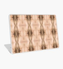 brown, beige, symmetry, abstract, design, pattern, art, decoration, wicker, vertical, textured, in a row, seamless pattern, textile, backgrounds Laptop Skin
