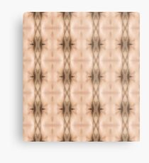 brown, beige, symmetry, abstract, design, pattern, art, decoration, wicker, vertical, textured, in a row, seamless pattern, textile, backgrounds Metal Print