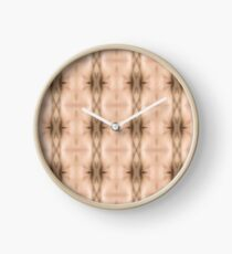 brown, beige, symmetry, abstract, design, pattern, art, decoration, wicker, vertical, textured, in a row, seamless pattern, textile, backgrounds Clock