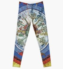 art, religion, old, decoration, antique, symbol, church, pattern, ancient, painting, spirituality, design, god, sign Leggings