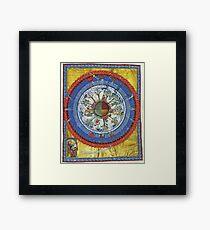 art, religion, old, decoration, antique, symbol, church, pattern, ancient, painting, spirituality, design, god, sign Framed Print