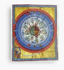 art, religion, old, decoration, antique, symbol, church, pattern, ancient, painting, spirituality, design, god, sign Metal Print