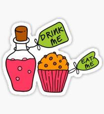 Alice In Wonderland Drink Me Eat Me T Shirt Sticker