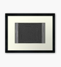 pattern, design, abstract, fiber, weaving, cotton, gray, textile, old, luxury, net, horizontal, textured, backgrounds, covering, old-fashioned, retro style, upper class Framed Print