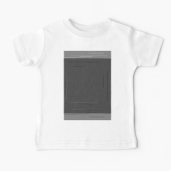 pattern, design, abstract, fiber, weaving, cotton, gray, textile, old, luxury, net, horizontal, textured, backgrounds, covering, old-fashioned, retro style, upper class Baby T-Shirt