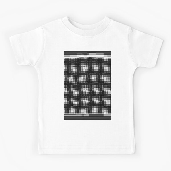 pattern, design, abstract, fiber, weaving, cotton, gray, textile, old, luxury, net, horizontal, textured, backgrounds, covering, old-fashioned, retro style, upper class Kids T-Shirt