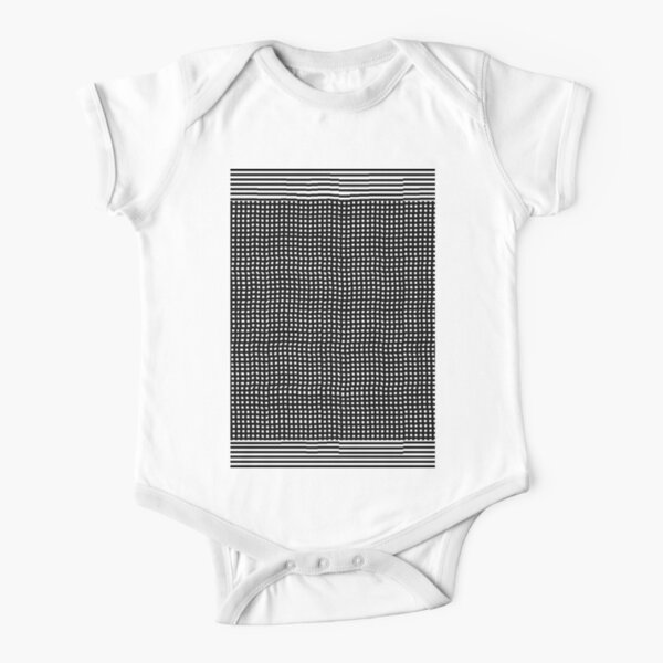 pattern, design, abstract, fiber, weaving, cotton, gray, textile, old, luxury, net, horizontal, textured, backgrounds, covering, old-fashioned, retro style, upper class Short Sleeve Baby One-Piece