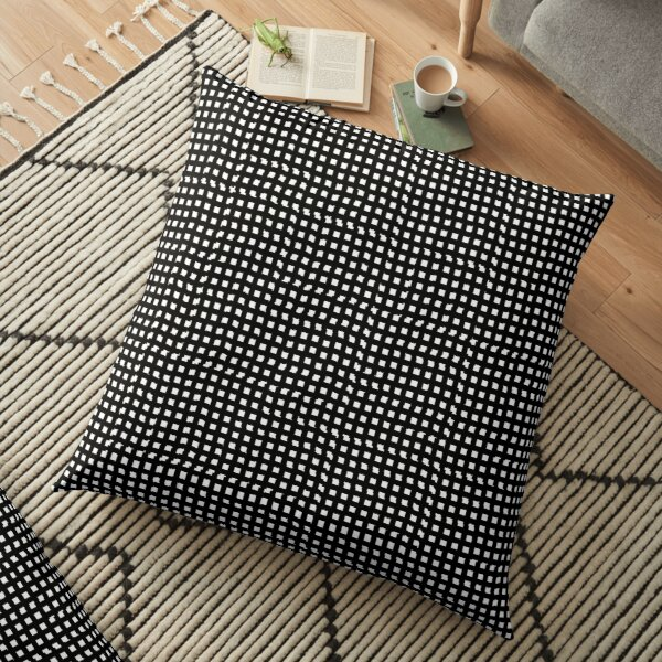 pattern, design, abstract, fiber, weaving, cotton, gray, textile, old, luxury, net, horizontal, textured, backgrounds, covering, old-fashioned, retro style, upper class Floor Pillow