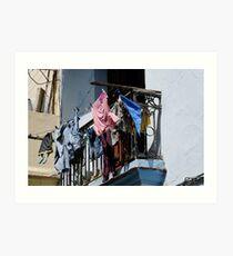 Washday blues, Old Havana, Cuba Art Print