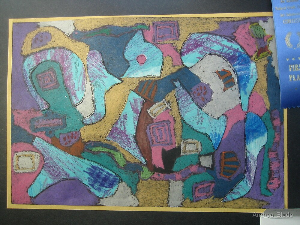 My Niece Olivia Slade (7 years old) Wins First Place at Local Art Show by Anthea  Slade