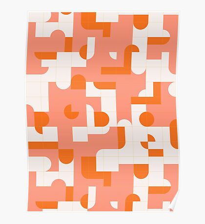 Puzzle Tiles #redbubble #pattern Poster