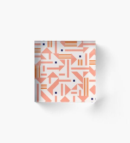 Random Tiles #redbubble #pattern Acrylic Block