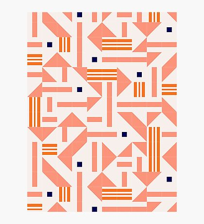 Random Tiles #redbubble #pattern Photographic Print