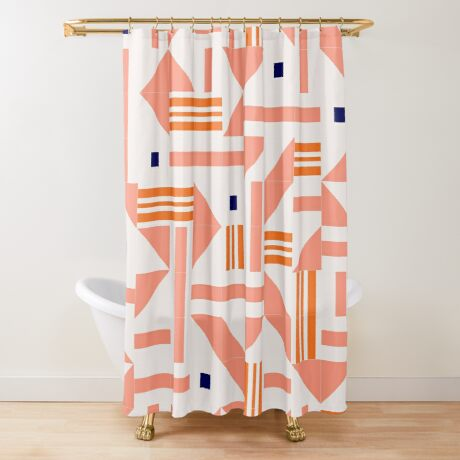 Random Tiles #redbubble #pattern Shower Curtain