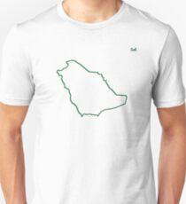 "Saudi Arabia ""Citizen of the Earth"" large Unisex T-Shirt"