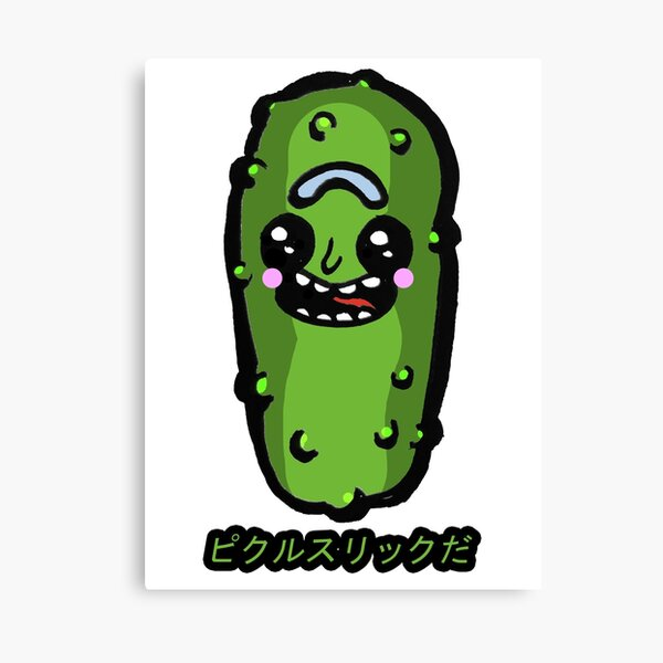 Japanese Kawaii Styled Pickle Rick from Rick and Morty™ Canvas Print