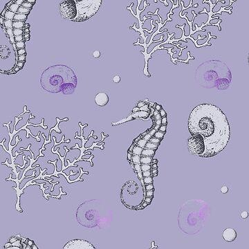Oceano violeta de peggieprints