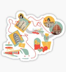 Travel with LOVE (italy) Sticker