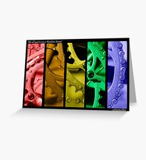Rainbow Jersey Greeting Card