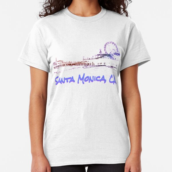 Santa Monica, CA Silhouette Classic T-Shirt