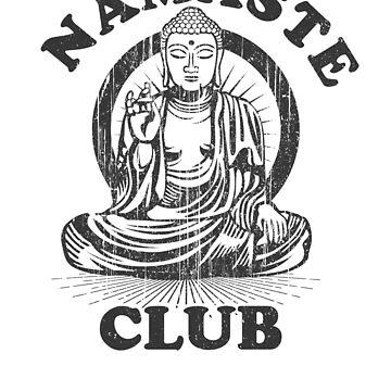 Namaste Club T-Shirt - Yoga & Meditation Summer Party Shirt  by LuckyU-Design