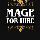 Mage For Hire RPG Classes Series by pixeptional