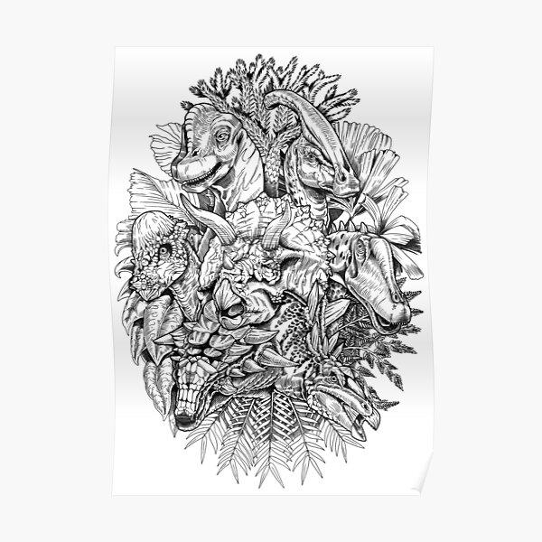 Herbivores (B/W) Poster