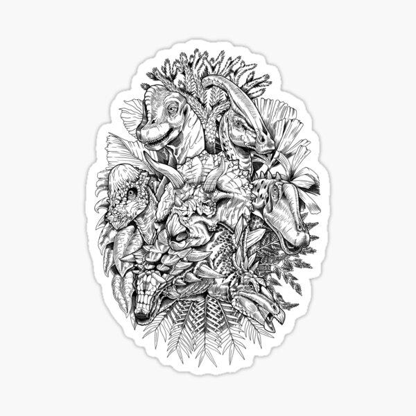 Herbivores (B/W) Sticker