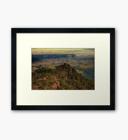 Awe & Wonder - Shipley Plateau , Blue Mountains - The HDR Experience Framed Print