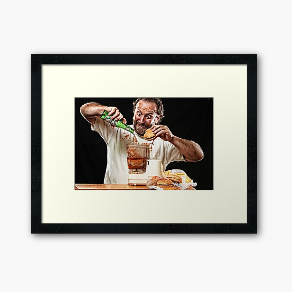 The Glutton! Framed Art Print