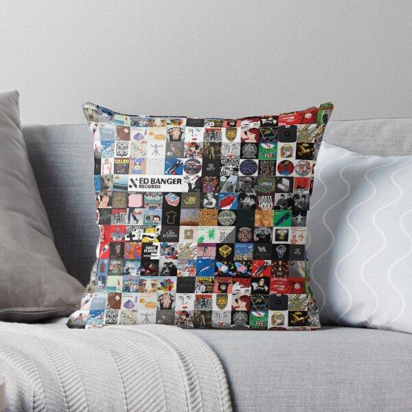 Records album collage Ed Banger Throw Pillow