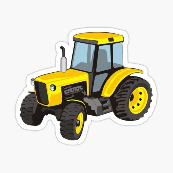 el tractor amarillo Pegatina