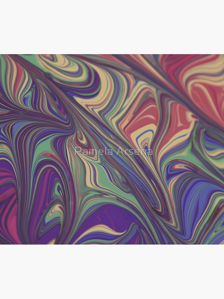 Psychedelic Liquid Pour Colorful Print by xpressio