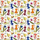 Rabbit pattern 1 by grafart