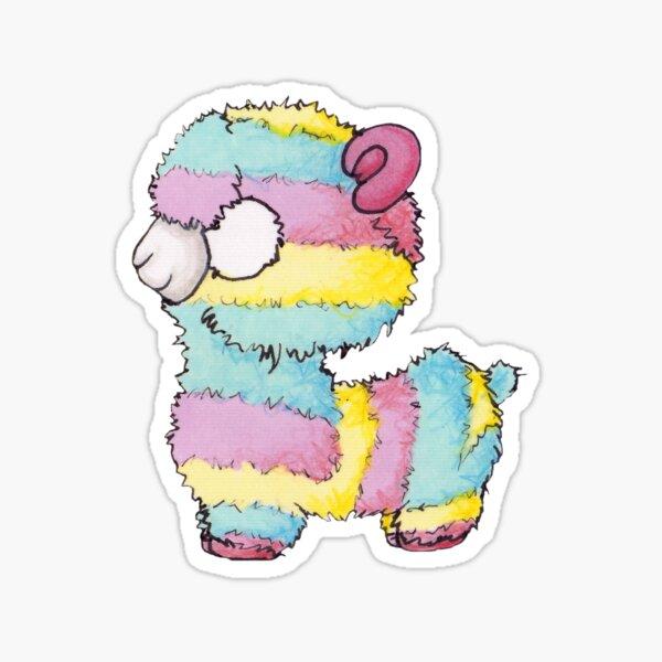 Alpaga multicolore  Sticker