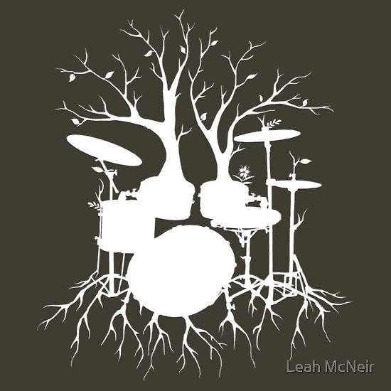"TShirtGifter presents: ""Live the Beat to the Tempo of Creation"" ~ drum art , version1"