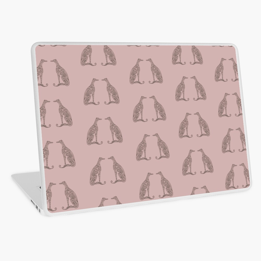 Double Greyhounds - Old Rose Laptop Skin
