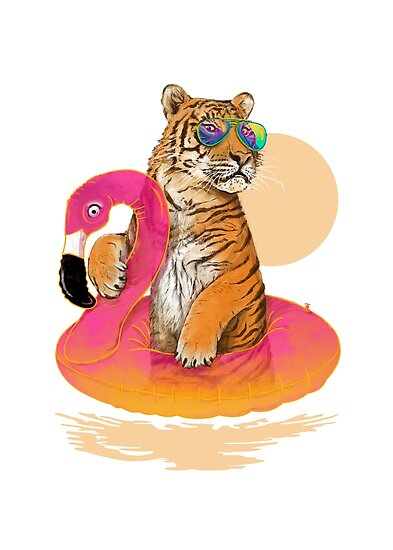 Chillin, Flamingo-Tiger von 38Sunsets