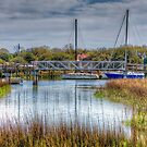 New Walking Bridge at Shem Creek by TJ Baccari Photography