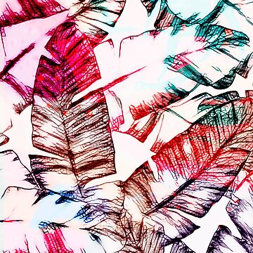 Tropical Banana Leaves Design by oursunnycdays