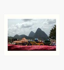 St Lucia piton-jewelry Art Print