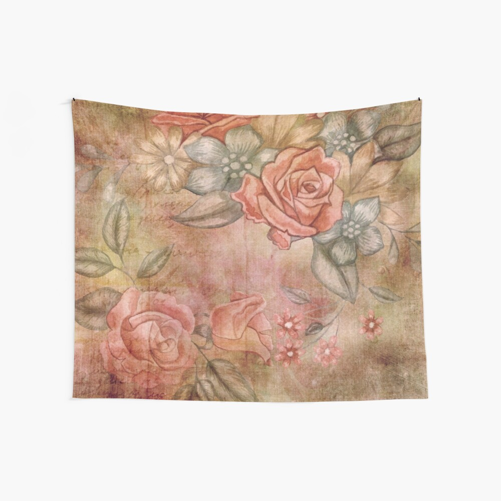 French Country Roses Artwork Shabby Chic Decorative Print