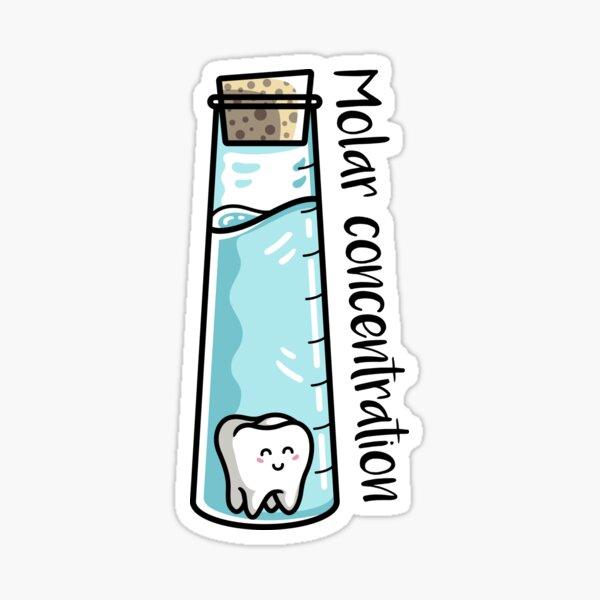 Molar Concentration Chemistry Joke Sticker