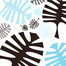 Black and blue tropical leaves by by-jwp
