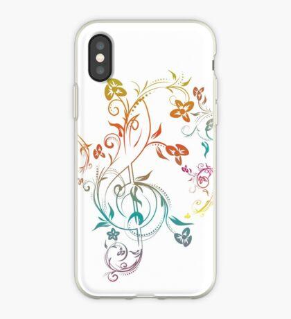Blumenmusiknoten 2 iPhone-Hülle & Cover